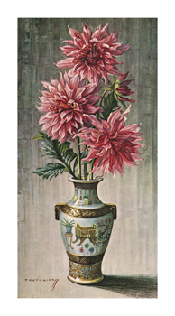 Dahlias Fine Art Print by Vladimir Tretchikoff