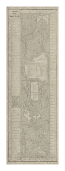 Guide Map - Central Park Fine Art Print by The Vintage Collection