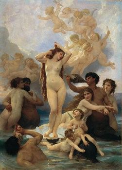 Birth of Venus Print by William Adolphe Bouguereau