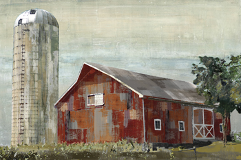 Barn Silo - Tulsa Print by Mark Chandon