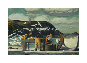 Cleaning Fish Fine Art Print by George Wesley Bellows