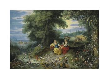 An Allegory of Water and Earth Fine Art Print by Pieter Brueghel the Younger