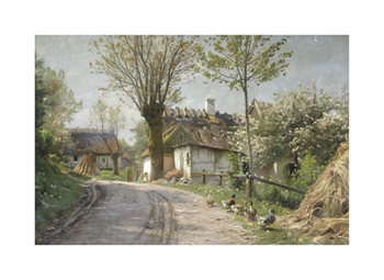 A Country Lane, Jyllinge Fine Art Print by Peder Mork Monsted