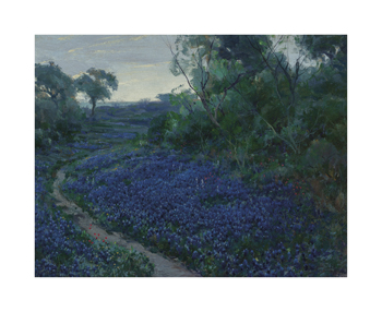 Bluebonnets in the Misty Morning Fine Art Print by Julian Onderdonk