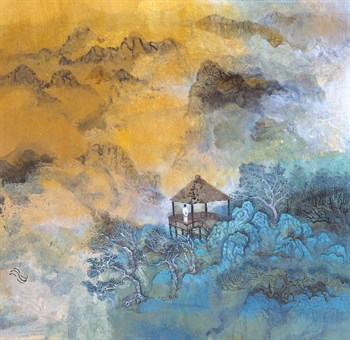 Enjoying Solitude on Blue Peaks Print by Wang Jia'Nan
