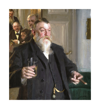 A Toast in the Idun Society Fine Art Print by Anders Zorn