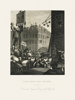 Beer Street Fine Art Print by William Hogarth