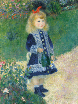 A Girl with a Watering Can, 1876 Print by Pierre Auguste Renoir