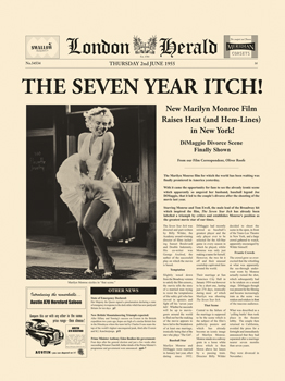 The Seven Year Itch Print by The Vintage Collection