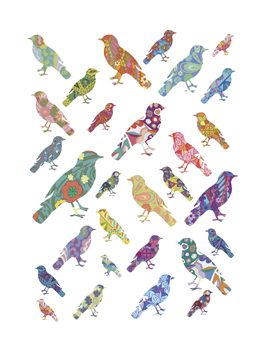 A Flock of Birds Print by Clara Wells