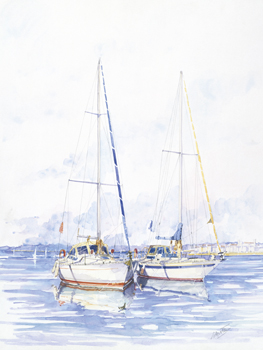 The Moorings Canvas Print by Louis Gavotto