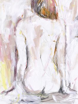 Feminine Figure Canvas Print by Aurora Bell