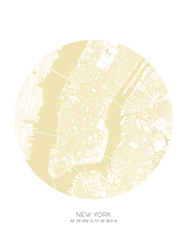 Sphere - New York Print by Olivier Gratton-Gagne