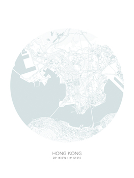 Sphere - Hong Kong Print by Olivier Gratton-Gagne
