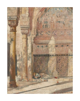 Basking - a corner in the Alhambra Fine Art Print by Tom Roberts