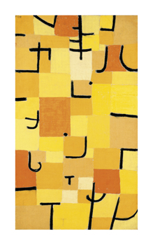 Signs in Yellow Fine Art Print by Paul Klee