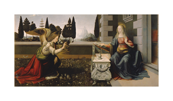 Annunciation Fine Art Print by Leonardo da Vinci