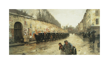 Cab Station, Rue Bonaparte, 1887 Fine Art Print by Frederick Childe Hassam