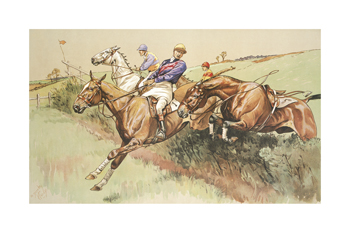 A Dangerous Competitor Fine Art Print by Dorothy Hardy
