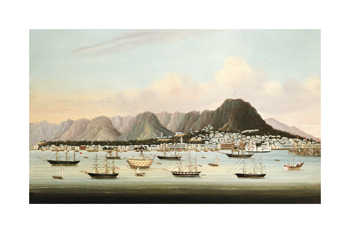 Boats in Victoria Harbour Fine Art Print by Oriental School