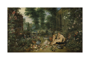 The Five Senses - Smell Fine Art Print by Sir Peter Paul Rubens