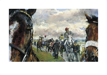 'After The Bell' Newcastle Races Fine Art Print by Jay Boyd Kirkman