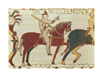 Bayeaux Tapestry Detail A Fine Art Print by Anonymous