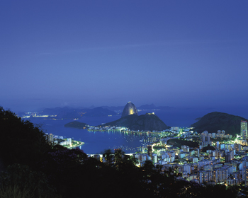 Rio at Night Print by Bent Rej