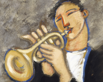 Trumpet Canvas Print by Marsha Hammel
