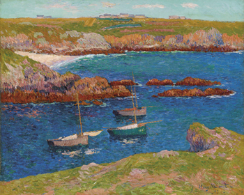 The Bay of Lampaul, Isle de Ouessant Canvas Print by Henry Moret