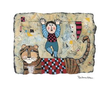 Riding the Tiger Print by Barbara Olsen