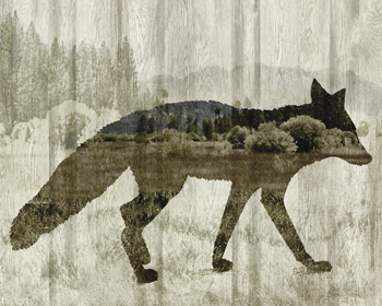 Camouflage Animals - Fox Print by Tania Bello