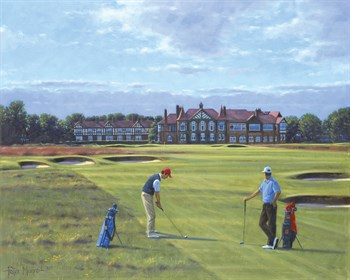 18th At Royal Lytham And St. Annes Fine Art Print by Peter Munro