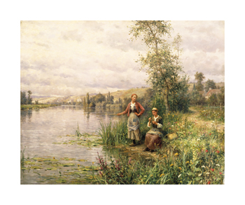By The River Fine Art Print by Louis Aston Knight