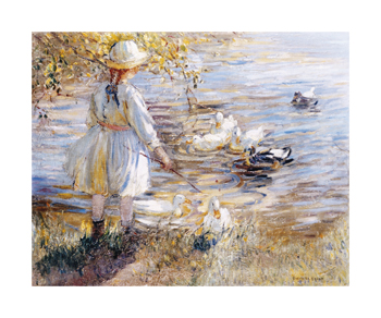 At The Duck Pond Fine Art Print by Dorothea Sharp