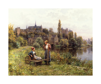 Summer Time Fine Art Print by Louis Aston Knight