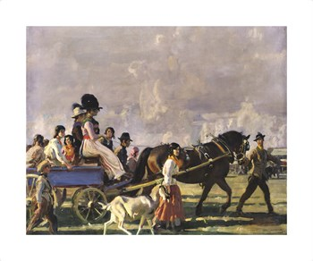 Arrival at Epsom Fine Art Print by Sir Alfred Munnings