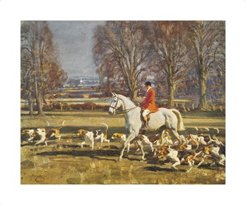 A November Morning Fine Art Print by Sir Alfred Munnings