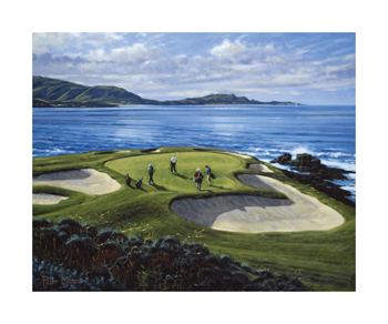 7th Hole Pebble Beach, California Fine Art Print by Peter Munro