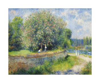 Chestnut Trees in Bloom Fine Art Print by Pierre Auguste Renoir