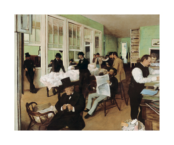 A Cotton Office in New Orleans, 1873 Fine Art Print by Edgar Degas