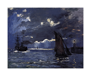 A Seascape, Shipping by Moonlight, c.1864 Fine Art Print by Claude Monet