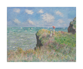 Cliff Walk at Pourville, 1882 Fine Art Print by Claude Monet