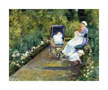 Children in a Garden (The Nurse) Fine Art Print by Mary Stevenson Cassatt