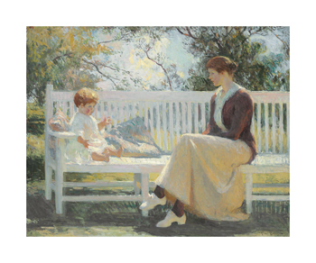 Eleanor and Benny, 1916 Fine Art Print by Frank Weston Benson