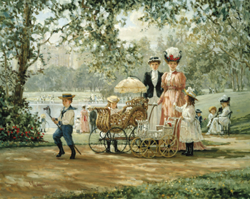 A Walk in the Park Print by Alan Maley