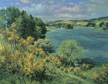 Balgavies Loch Print by James McIntosh Patrick