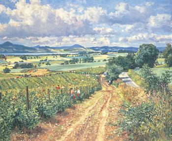 Berry Picking, Mains Of Grey Print by James McIntosh Patrick