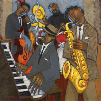 Thelonious Monk and his Sidemen Canvas Print by Marsha Hammel