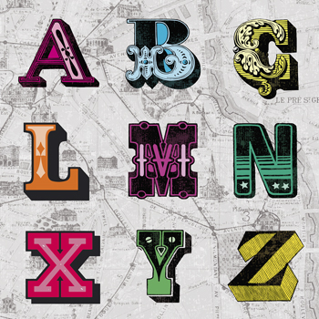 Letterset Canvas Print by Tom Frazier